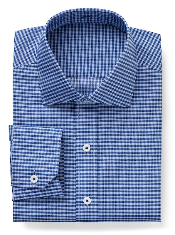 Non-Iron Blue/Navy Twill Check