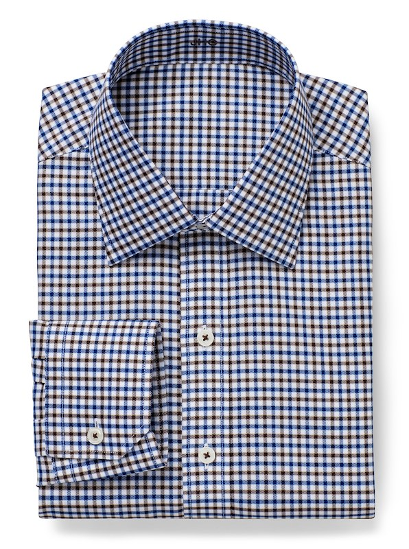 Non-Iron Brown/Blue Multi Gingham