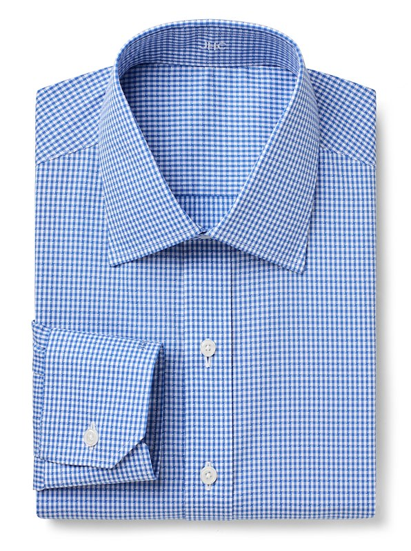 Non-Iron Blue Gingham Texture