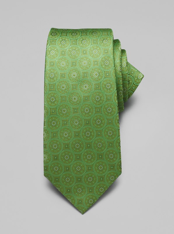 Large Medallion Tie - Grass