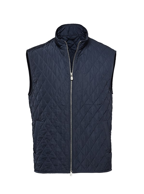 Navy Tech Quilted Vest