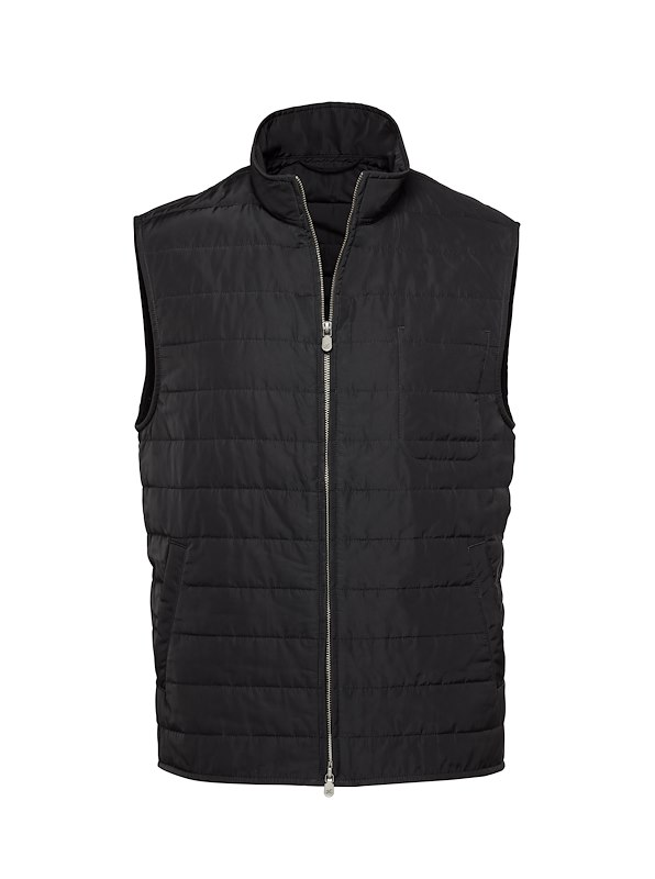 Black Tech Quilted Vest