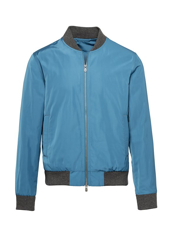 Lapis Blue Tech Flight Jacket