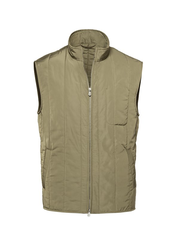 Olive Tech Quilted Vest