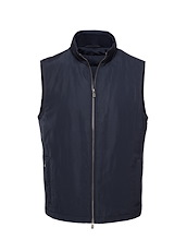 Navy Matte Polyester All Season Vest