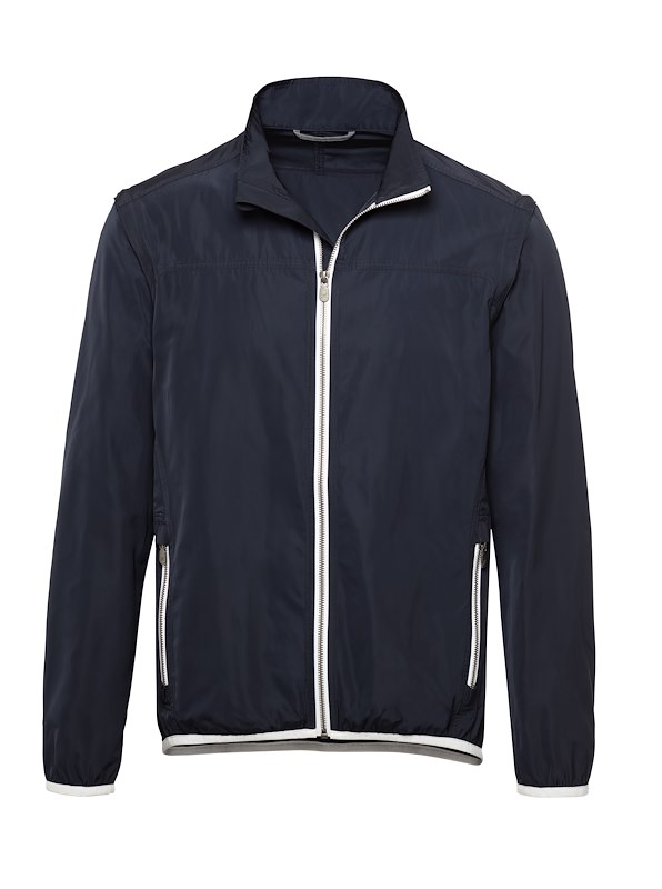 Navy Matte Polyester Golf Jacket