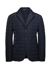 Navy Tech Quilted Blazer