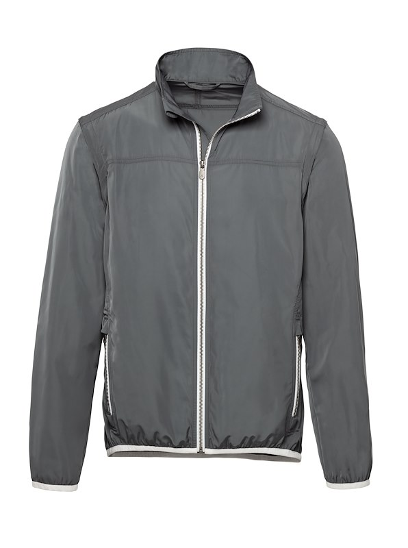 Grey Matte Polyester Golf Jacket