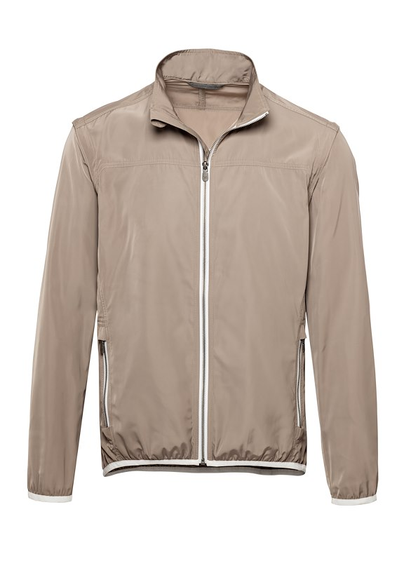 Taupe Matte Polyester Golf Jacket