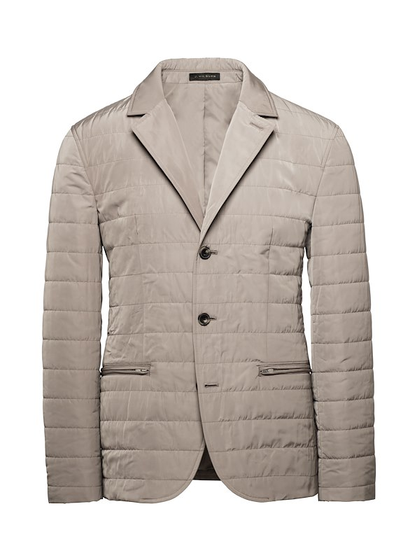 Taupe Tech Quilted Blazer