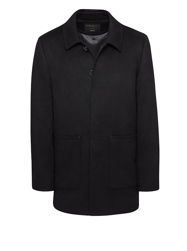 Black Cashmere Car Coat