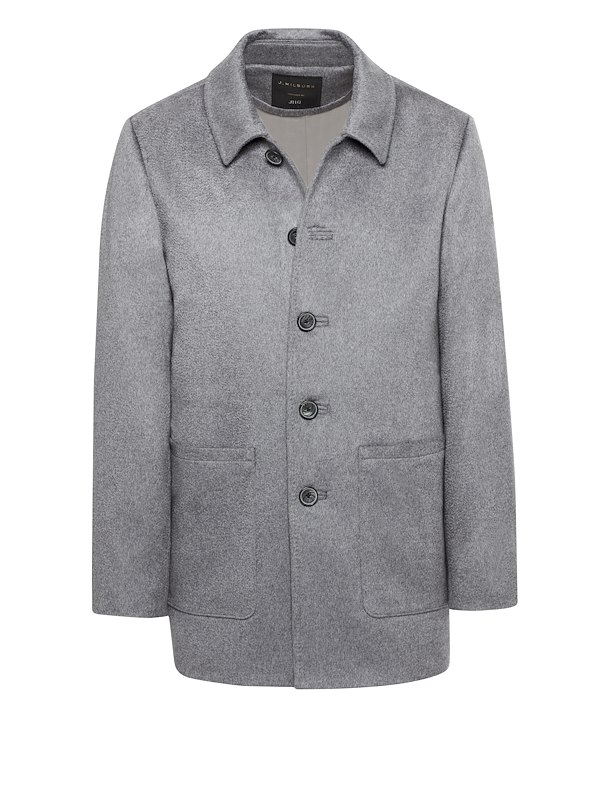 Grey Cashmere Car Coat