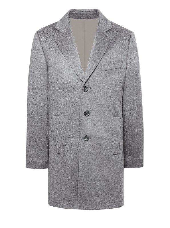 Grey Cashmere Top Coat