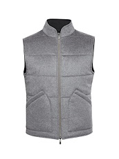 Grey Cashmere Reversible Vest