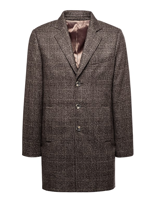 Hickory Glen Plaid Cashmere Top Coat