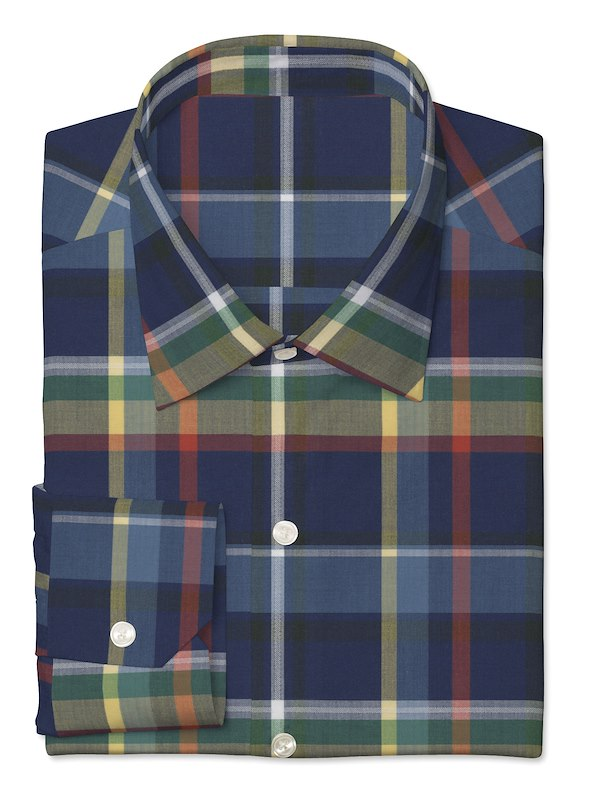 Navy Multi Large Plaid