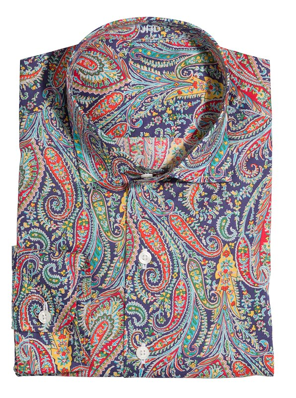 Navy/Red/Green Paisley Print