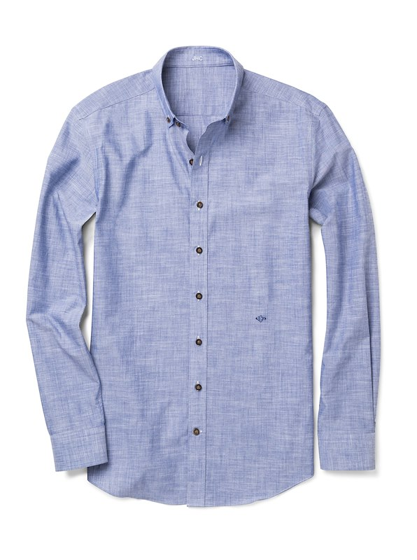 Blue Solid Chambray