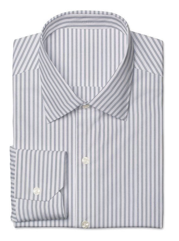 White/Grey Twill Stripe