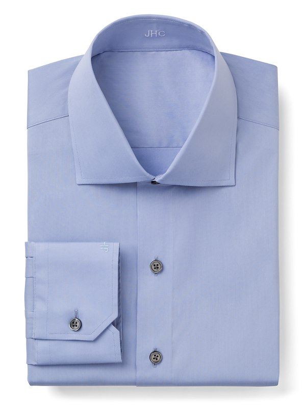 Light Blue Stretch Poplin
