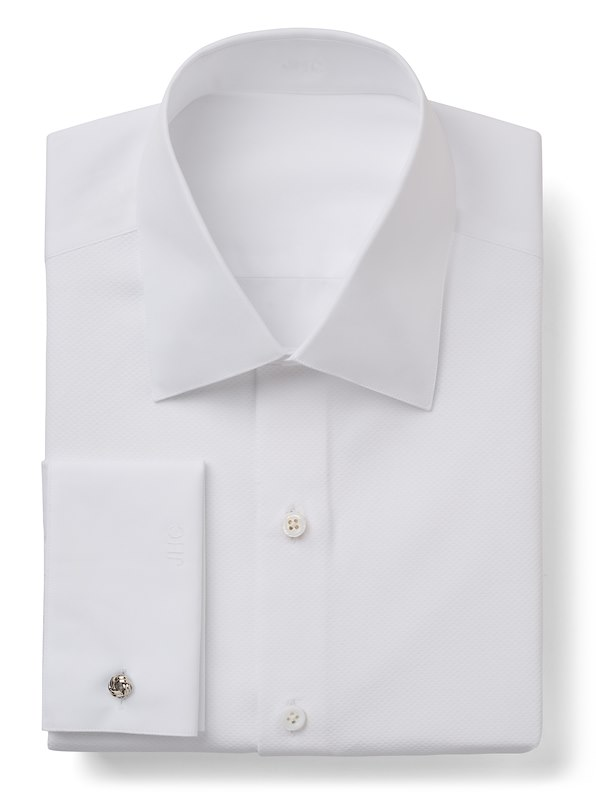 Formal White Pique Solid