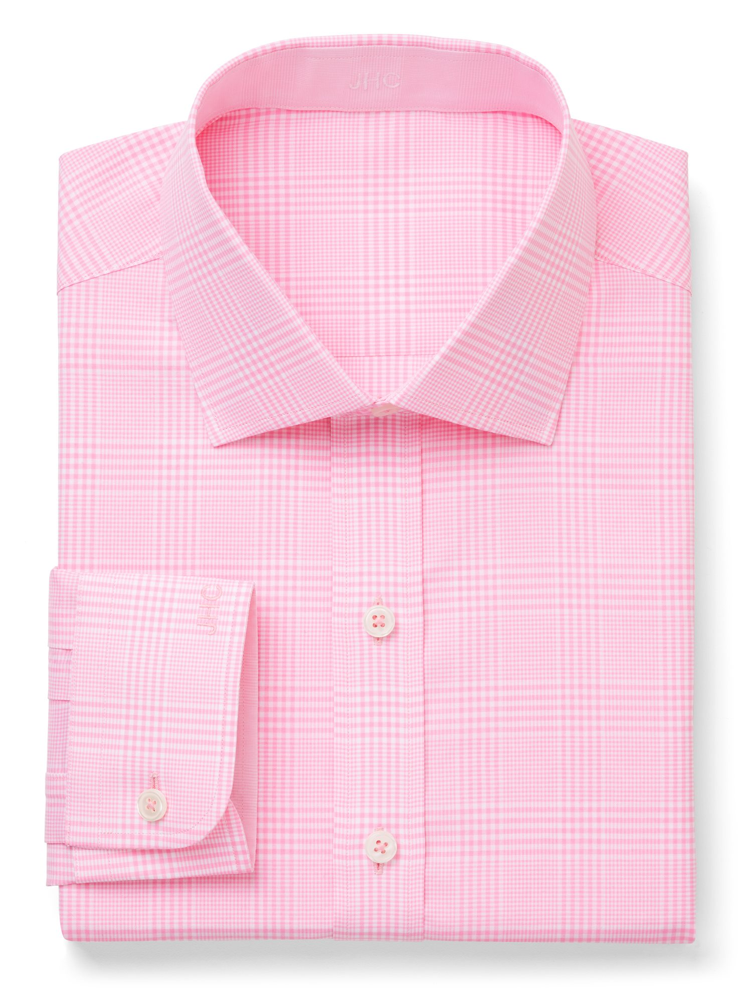 Pink/White Suiting Check | J.Hilburn