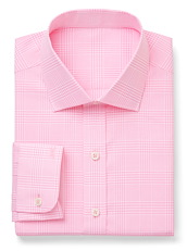 Pink/White Suiting Check