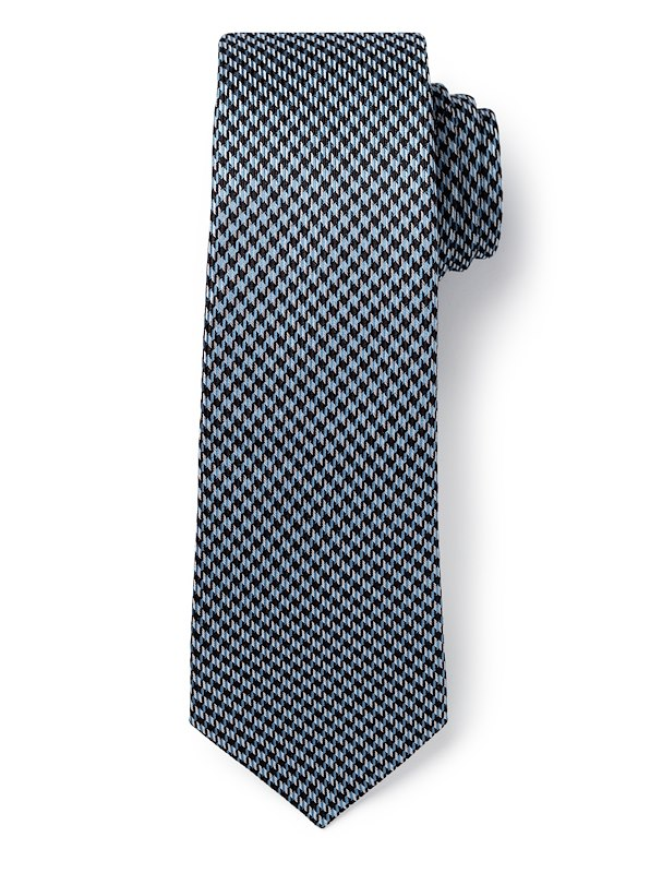 Houndstooth - Grey/Aqua