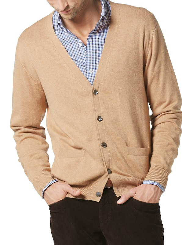 Luxury Blend Earl Cardigan - Camel