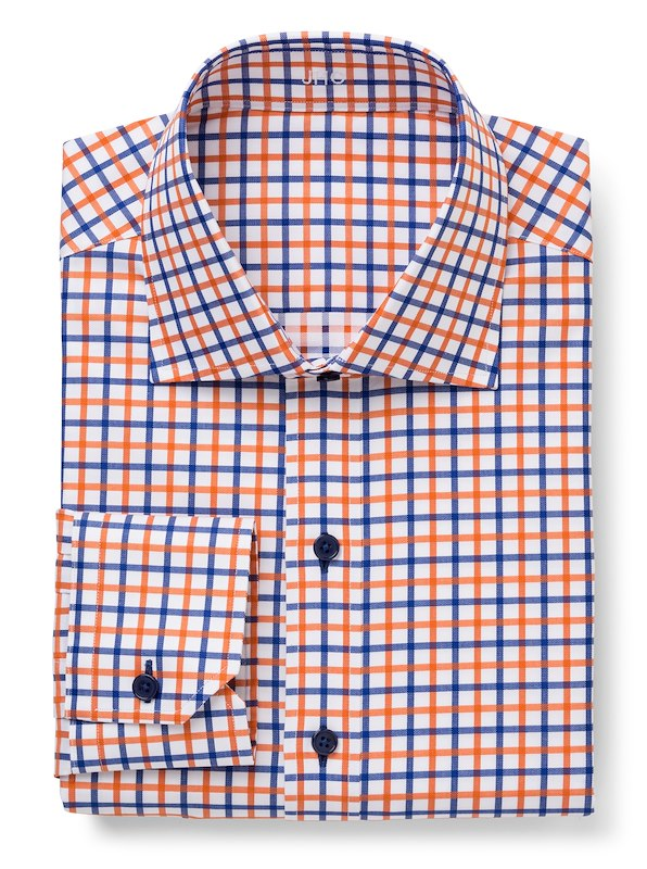 White/Orange/Navy Bold Check