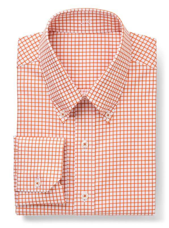 White/Orange Twill Check