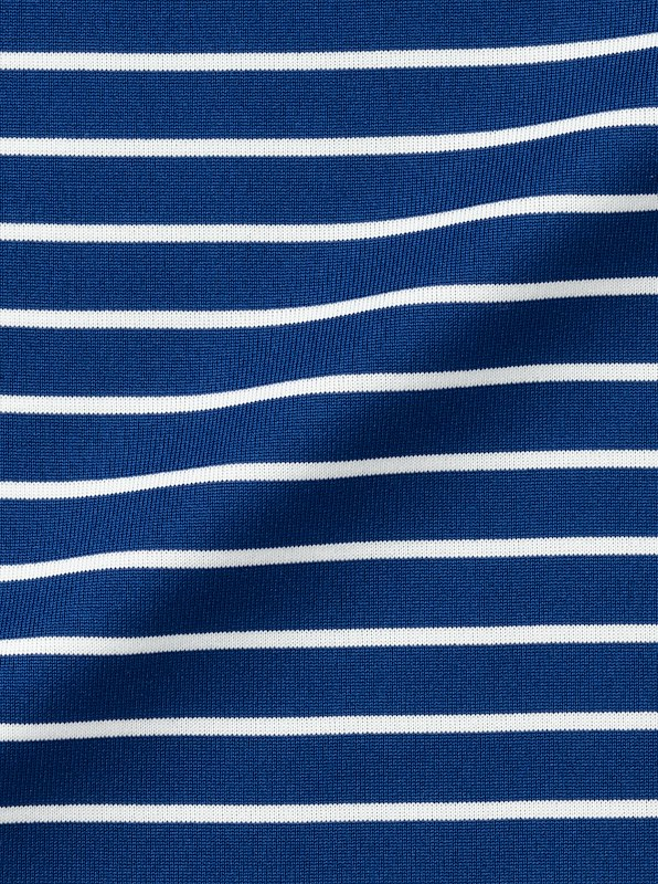 Cobalt Blue Stripe Tech Poly