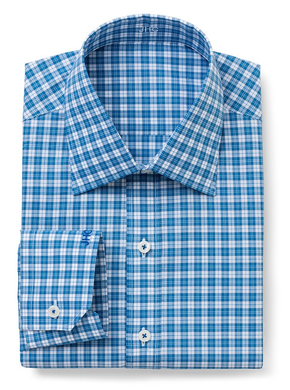 Blue/White Tattersall | J.Hilburn