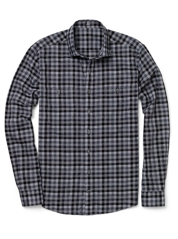 Grey Graphic Gingham