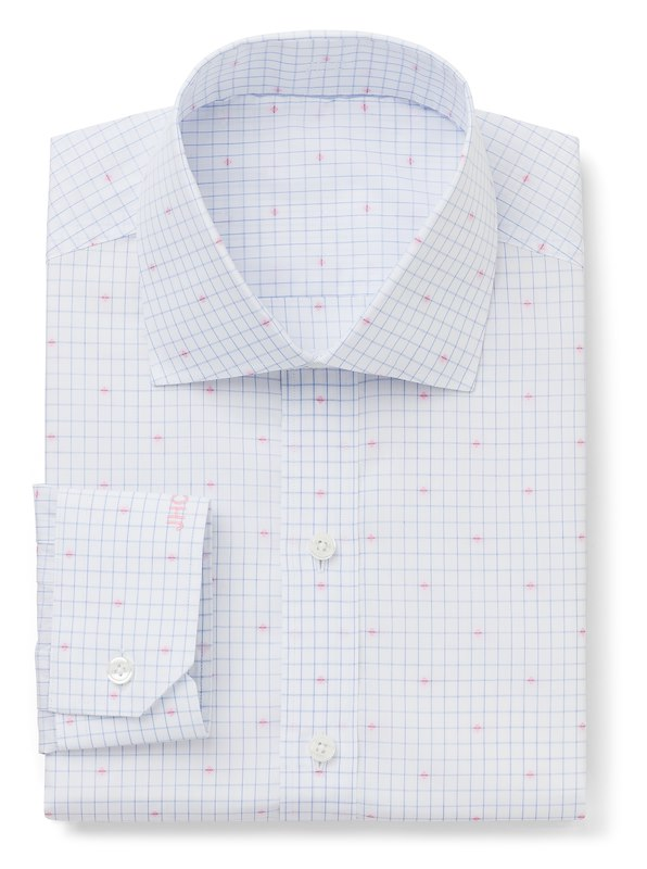 Blue/White Check with Pink Mini Diamond