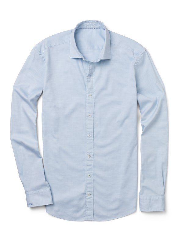 Light Blue Melange Oxford
