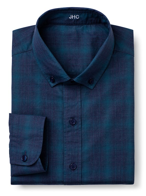 Pacific Blue/Storm Blue Mélange Large Windowpane Check
