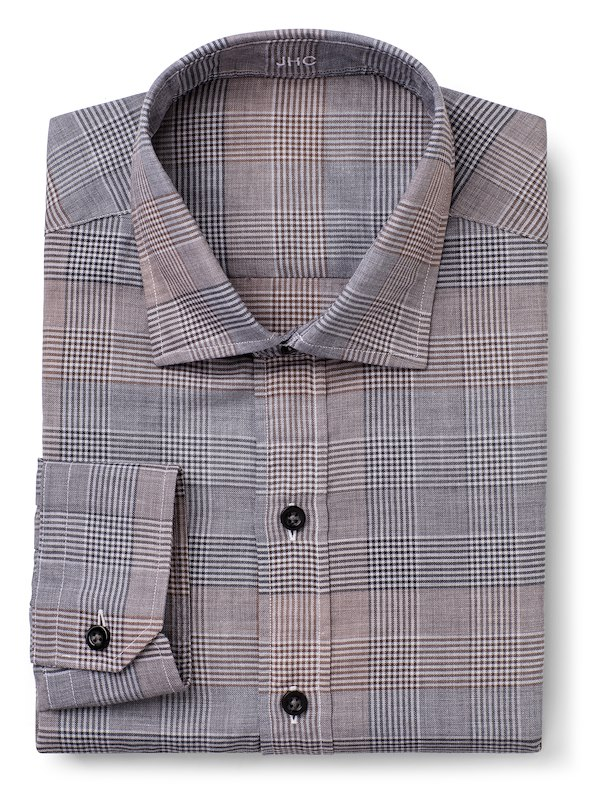 Rust/Charcoal Mélange Large Glen Plaid
