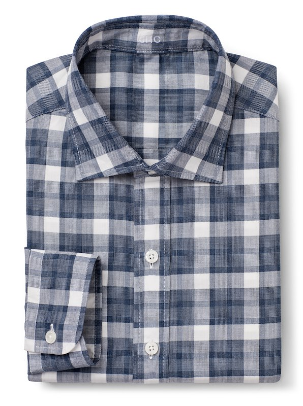 Storm Blue Mélange Plaid