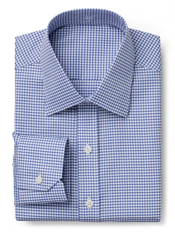 Wrinkle Resistant Navy Twill Gingham
