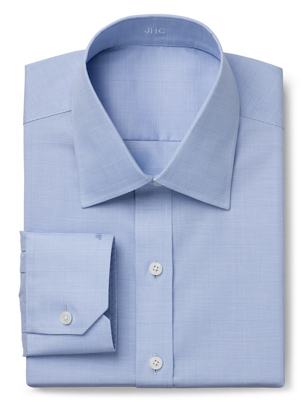 Wrinkle Resistant Blue Suiting Check