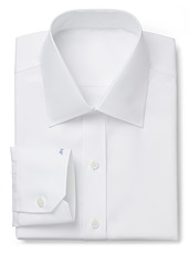 Wrinkle Resistant White Fine Twill