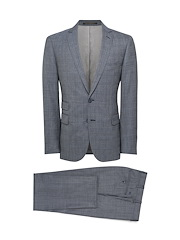 Deep Navy Fancy Suiting Check