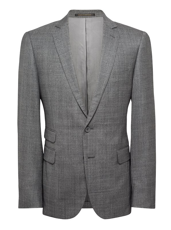 Deep Charcoal Fancy Suiting Check