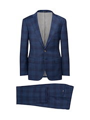 Blue/Brown Houndstooth Plaid