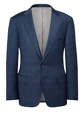 Blue Muted Windowpane