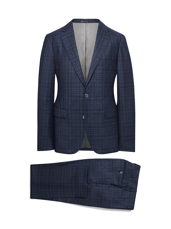 Charcoal and Blue Check